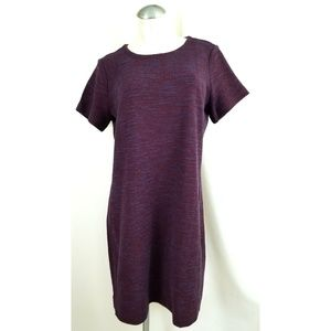 LOFT Outlet Size L Knit Dress Wine Blue